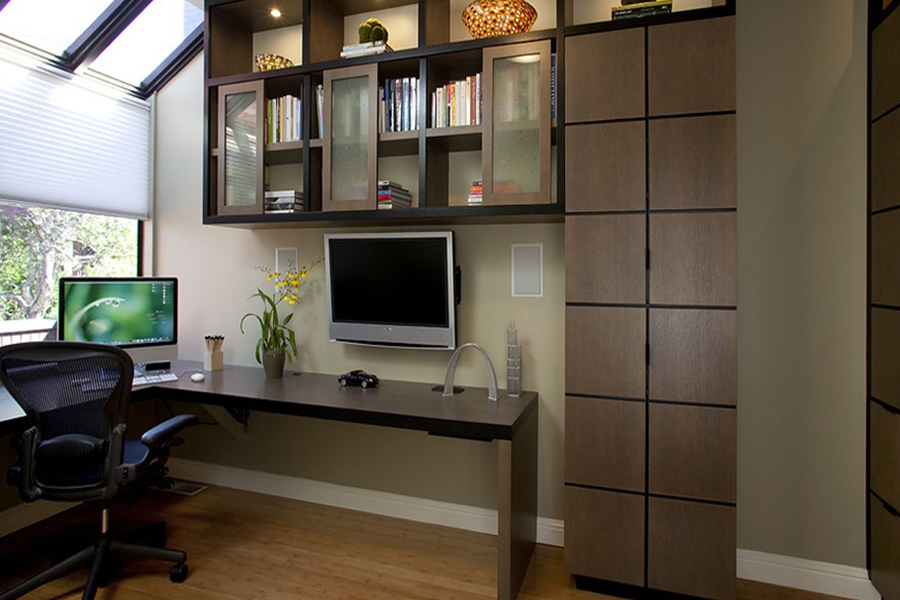 Office with shelves