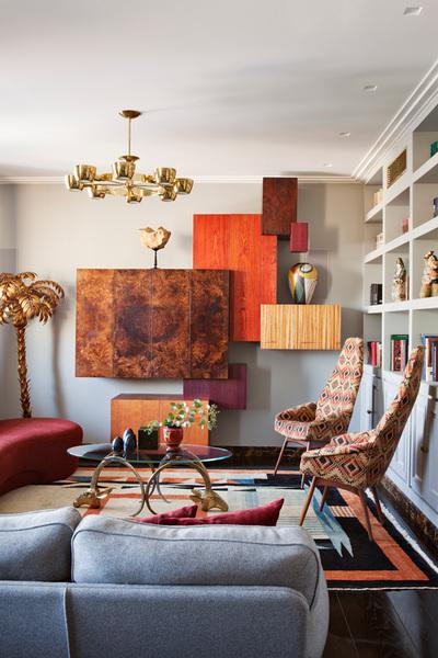 Contemporary interior design bethesda private condo muree
